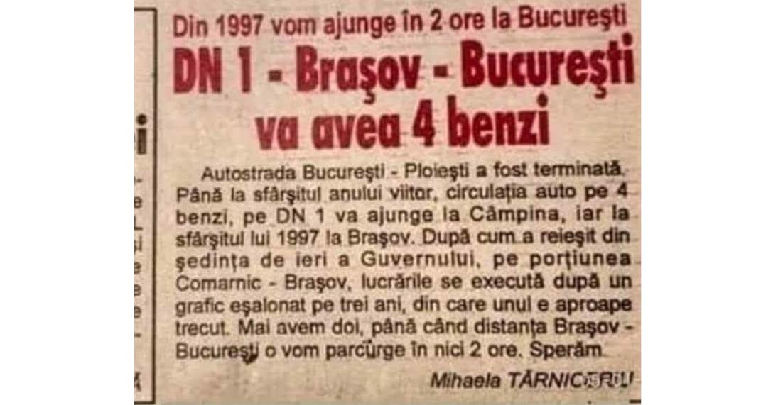 24 de ani de la darea în folosință a Autostrăzii Comarnic-Braşov!Mergem să sărbătorim pe Autostrada Moldova!