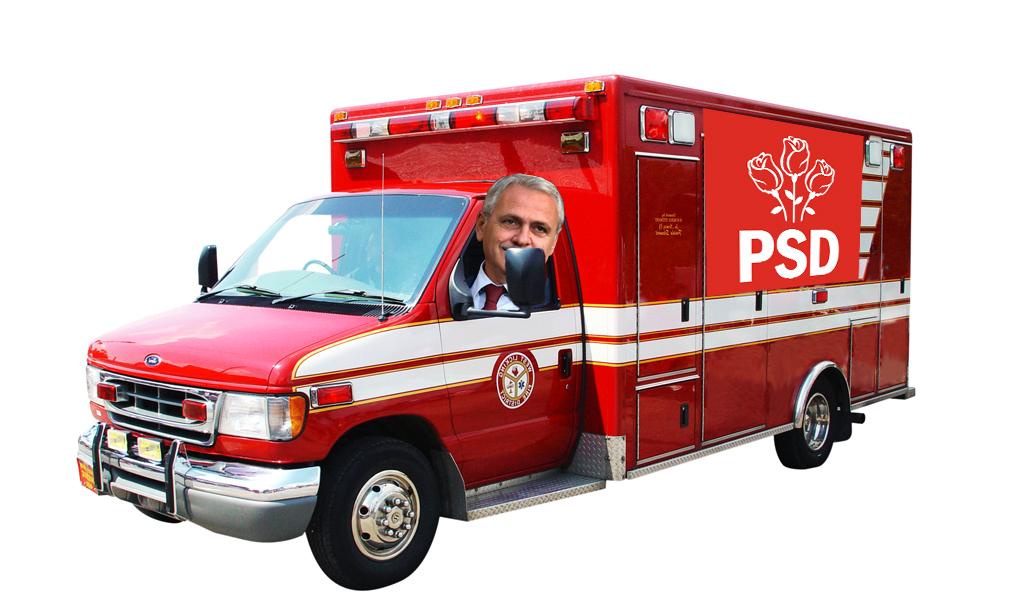 A apărut ambulanța roșie care răpește copii și le fură banii!