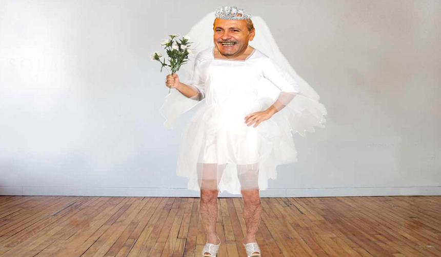 Socrulmare s-a îmbrăcat în rochia miresei, să vadă cum o să aratela Jilava!
