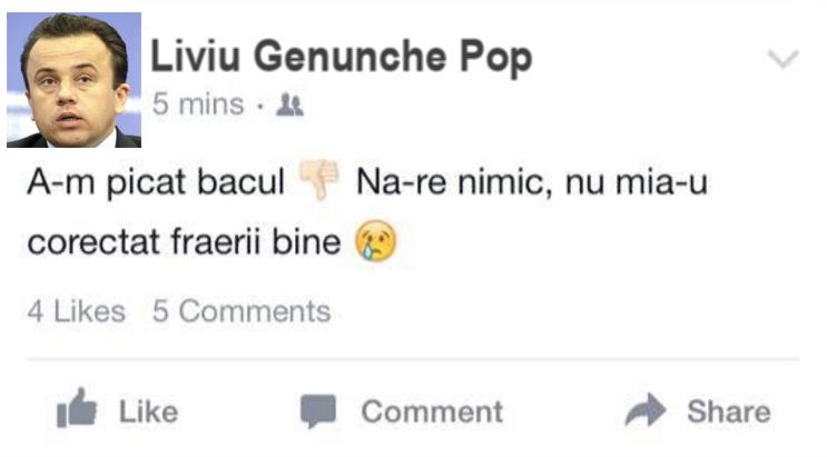 Repetentul anului: Liviu Genunche Pop, ministru a-l Ieducațiie!