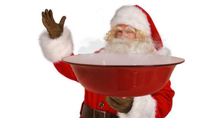 La bucureşteni, Moş Crăciun vine cu ligheanul în loc de sac!