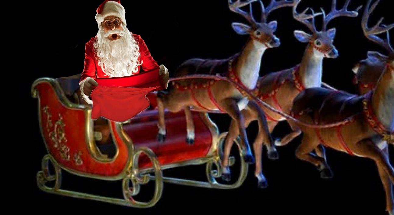 Moș Crăciun a rămas cu sacul gol în timp ce trecea pe deasupra sediului PSD!