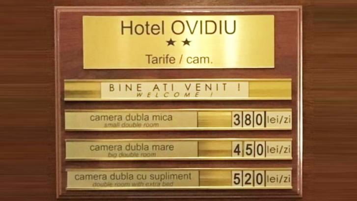 520 de lei camera la hotelul Ovidiu (2 stele) din Hawaii, jud. Constanța. Susținem litoralul românesc!