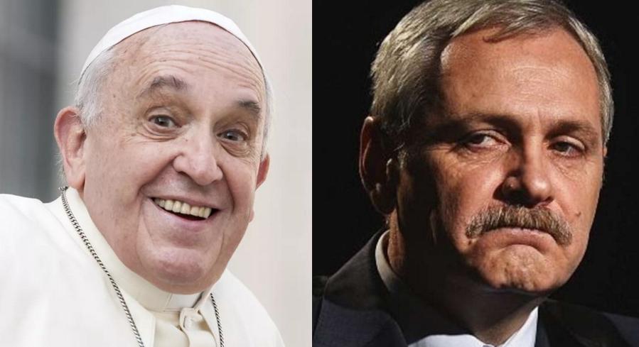 Papa a sunat la Rahova să întrebe când îi va putea spăla picioarele lui Dragnea