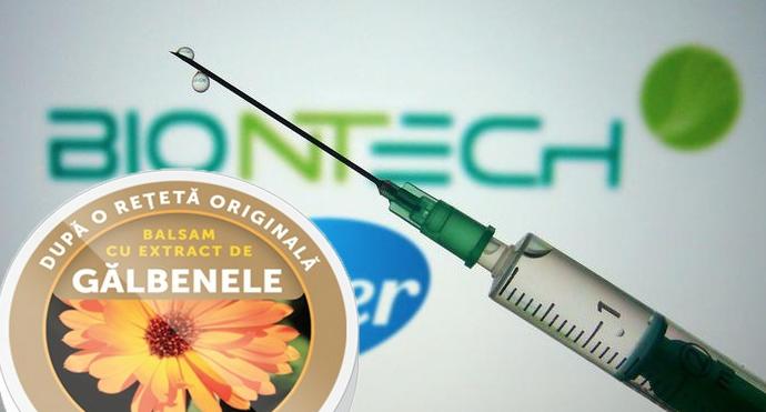 Ca să nu mai aibă probleme cu anti-vacciniştii din România,Pfizer va adăuga în vaccin nişte gălbenele!