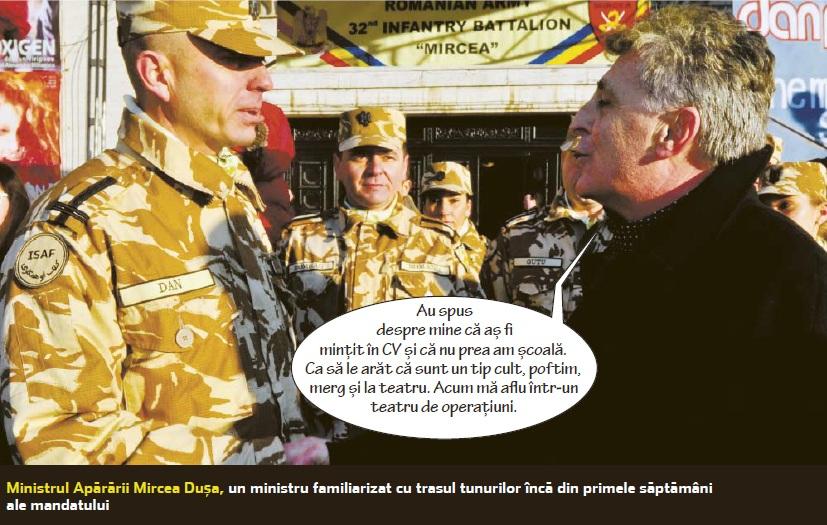 Ministrul Apărării, Mircea Dușa, și-a falsificat CV-ul