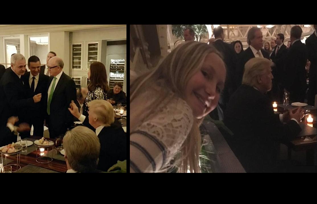 Dragnea s-a bătut cu niște copii ca să se bage și el în pozele cu Donald Trump