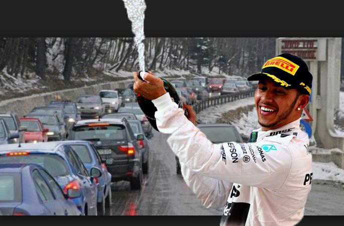 """Lewis Hamilton: """"Pe o singură șosea din lume nu pot depăși nici măcar eu: pe DN1 de sărbători"""""""
