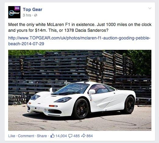 În atenția Preafericitului Daniel, CEO-ul BOR: se vinde un McLaren F1 alb! Unicat!