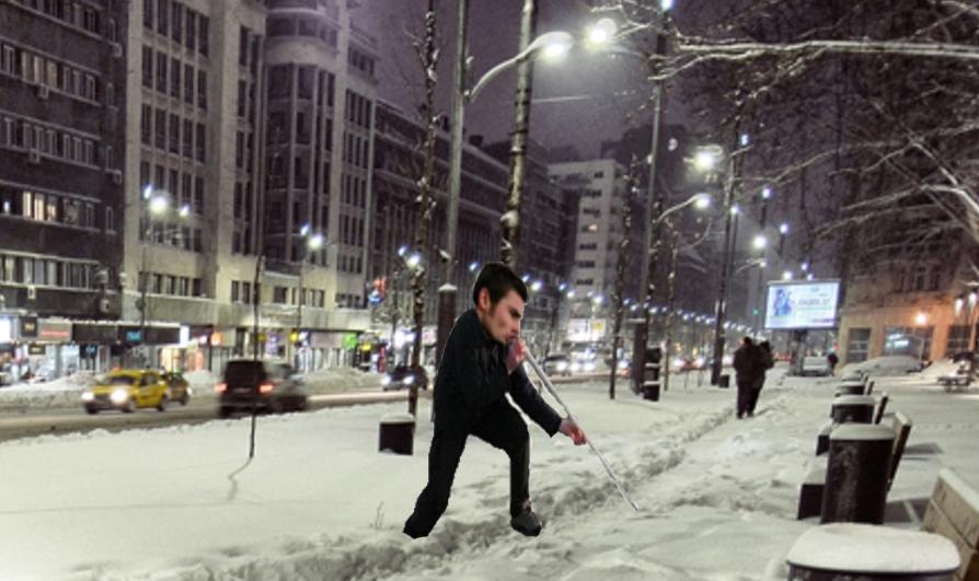 """Mutu: """"Pe Magheru eu am strâns zăpada, nu Firea! Eu cu nările mele"""""""