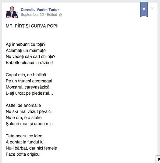 MR. PÎRȚ ȘI CURVA POPII (pamflet de Corneliu Vadim Tudor, aliatul lui Mr. Pîrț)