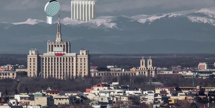 E atât de senin in Bucureşti încât se văd apa caldă şi căldura din Cluj!