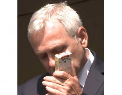 Să le reamintim PSD-iştilor cum fumaDragnea țigări fără timbru. Pentru că el nu plătea taxe. El doar le fura!
