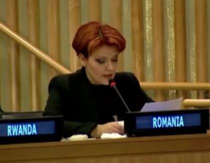 """Olguța Vasilescu, discurs fulminant în engleză: """"Ză paralel steit uant tu put as in geil!"""""""