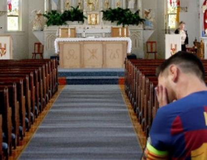 Messi e disperat: stă de două zile închis în biserică și nu a primit niciun apel din România!